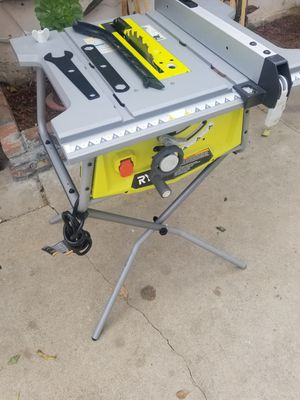 RYOBI 15 Amp 10 in. Table Saw with Stand for Sale in Rialto, CA