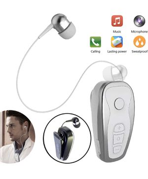Bluetooth Headset Wireless Headphones Business Earbud Collar Clip Retractable Sports Earpiece Compatible with Women Men Samsung Huawei LG Mobile Cell for Sale in Miami, FL