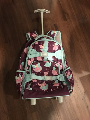 Pottery barn girls backpack rolling bag for Sale in West Springfield, VA
