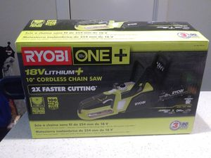 "18v ryobi 10"" chainsaw for Sale in Austin, TX"