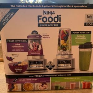 Ninja Foodi Power Nutri Duo 24oz Smoothie Bowl Maker and Personal Blender 1200WP 4 Auto-iQ Exclusive Preset for Sale in Chicago, IL