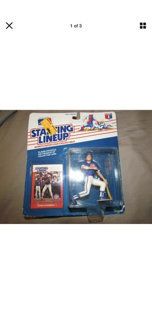 Vintage 1988 Ryne Sandberg Starting Lineup Figure and Baseball Card !! for Sale in Plainfield, IL