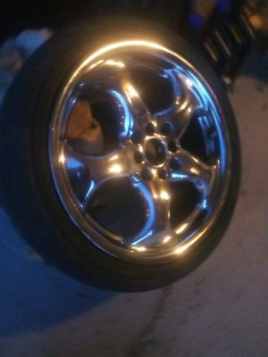 Universal lug chrome rims and tires (read discription) for Sale in Henderson, NV