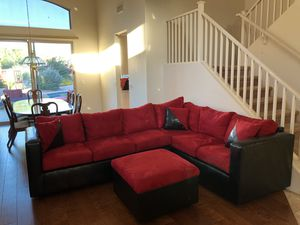 L-Shaped Red Sofa with Coffee Table- New Condition for Sale in Phoenix, AZ