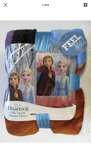Disney's Frozen II Silk Touch Anna and Elsa Sherpa Throw for Sale in Sioux Falls, SD