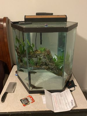 Fish tank complete with stand for Sale in Tacoma, WA