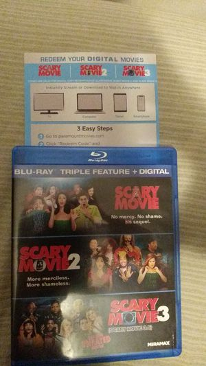Scary Movie Triple Feature Digital Code for Sale in Covina, CA
