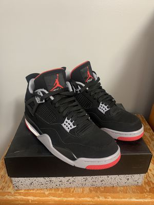 Nike Air Jordan Retro 4 Bred 2019 Size 9.{contact info removed} for Sale in Jersey City, NJ