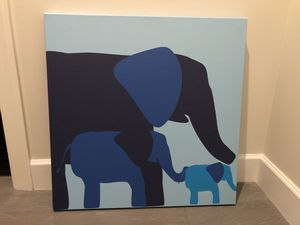 Elephant painting on canvas. for Sale in Parkland, FL