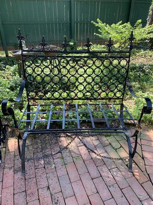 Wrought iron bench for Sale in Annville, PA