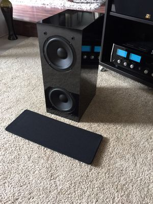 NHT (Now Hear This) SW1 Passive Subwoofer Piano Black Excellent Cond. for Sale in San Carlos, CA