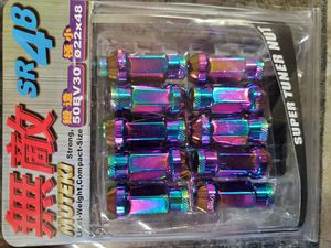 Muteki 12x1.25 Neon Neo Chrome Tuner Lugs Lug Kit Lug nuts for Rims Wheels for Sale in Chicago, IL