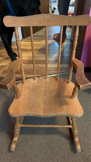 Small kids rocking chair. Wood for Sale in Montesano, WA