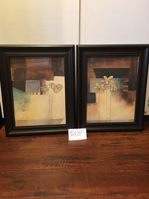 """Wall Art 16""""x20"""" each (new fr Kohl's)both $18 for Sale in Stockton, CA"""