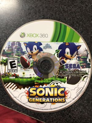 Sonic Generations game for Xbox 360 for Sale in Preston, CT
