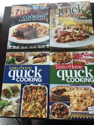 Quick cooking 2011-2014 cookbooks for Sale in Kissimmee, FL
