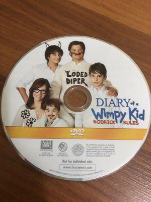 Diary of a Wimpy Kid Rodrick Rules (Disc Only) (No case) for Sale in Miami, FL