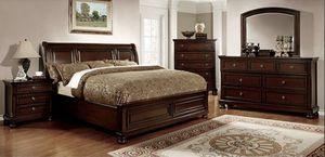 Brand New 5pc Bedroom Set In Dark Cherry for Sale in Ontario, CA