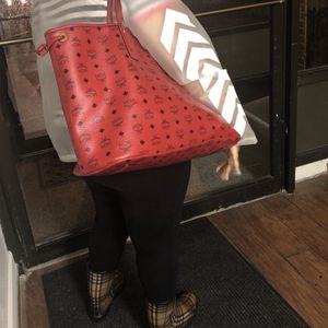 Red Mcm Large Tote Bag for Sale in Essex, MD