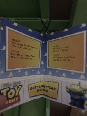 Buzz lightyear bed (twin size metal frame) for Sale in Sacramento, CA