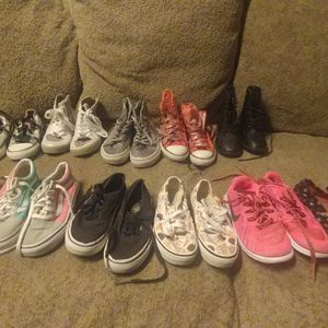 Girls Nike/Converse/Vans/Tom's/ Michael Kors Shoes Size 12 for Sale in Modesto, CA