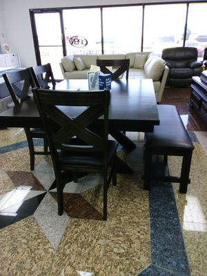 New Kelly Dining Table with 4 Chairs and Bench ONLY $599. NO CREDIT CHECK FINANCING for Sale in Tampa, FL
