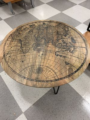 Handcrafted in India Coffee Table with World Map Globe for Sale in Little Silver, NJ