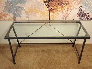 cb2 glass table/desk for Sale in San Carlos, CA