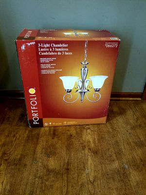 Brand New 3-Light Chandelier Brush Nickel Finish for Sale in Canal Winchester, OH
