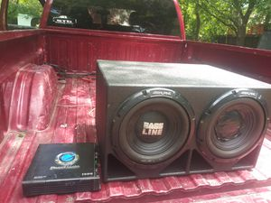 "Pro box 2 ""12"" with planet audio 1500 watts amp for Sale in Ennis, TX"