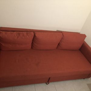 Red Foldable Storage Couch for Sale in Port St. Lucie, FL