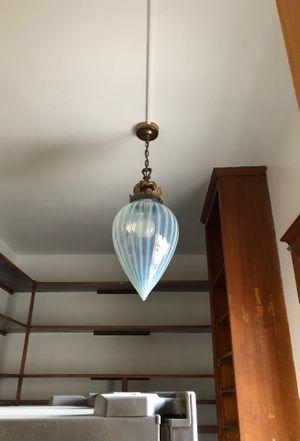 Tear-drop shaped milk glass globe light fixture for Sale in US