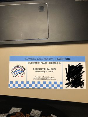 Chicago auto show tickets for Sale in Huntley, IL
