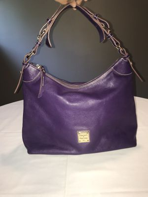 Dooney & Bourke XL Purple Leather Tote Bag for Sale in Kirkland, WA