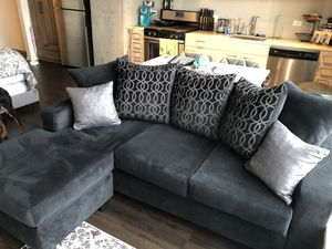 Black Velvet Couch for Sale in Seattle, WA