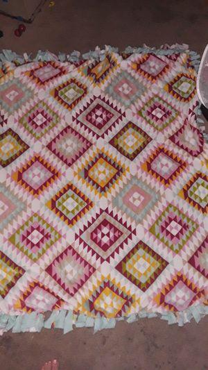 Homemade plush-fleece tie blanket for Sale in Duluth, MN