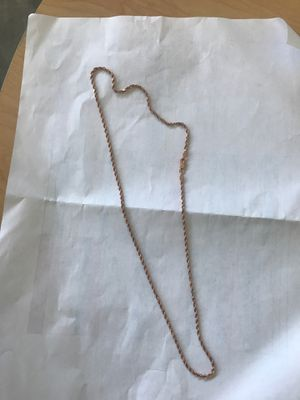 10k rose gold rope chain for Sale in Long Beach, CA