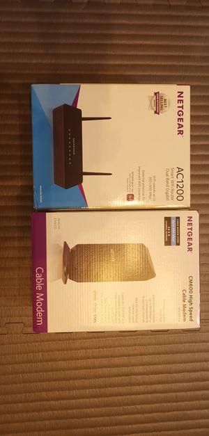AC1200, CM600 modem and router for Sale in Las Vegas, NV