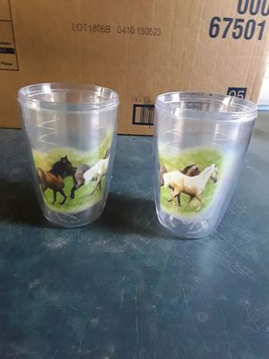 2 plastic horse cups. for Sale in Linden, PA