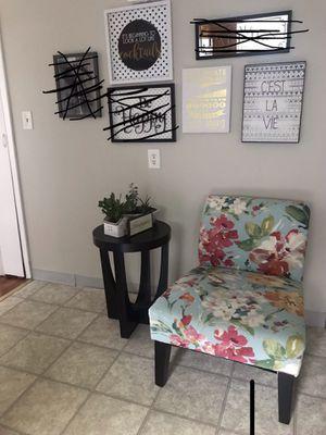 Mirror, 6 wall decor, plate, vase, small iron board and bathtub caddy for Sale in Abington, MA