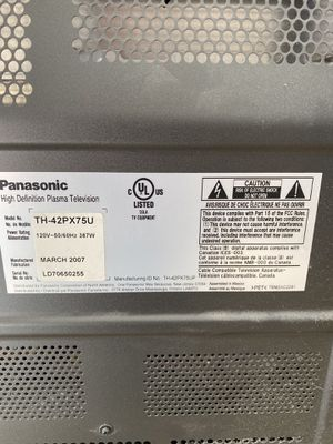 Panasonic 42inch TV for Sale in Fairfield, CT
