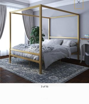 New full size canopy bed frame mattress not included for Sale in Charlotte, NC