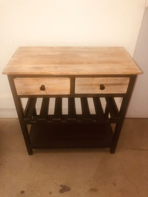 Side table with wine rack for Sale in Los Angeles, CA