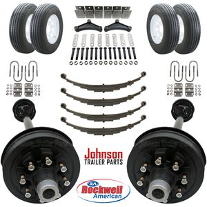 Trailer Parts Kit - Tandem 7,000 lb Electric Brake Axle Kit w/ Wheels & Tires -We carry all trailer parts, trailer axles,trailer tires, trailer repair for Sale in Plant City, FL