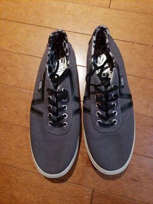 Vans lo pro size 8.5 gray / leopard pattern inside for Sale in Manassas, VA