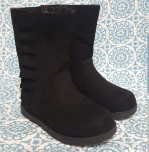 Toddler Girls Reva Ruffle Boots - Cat & Jack Black NEW WITH TAGS size 9 and 12 available for Sale in Orlando, FL