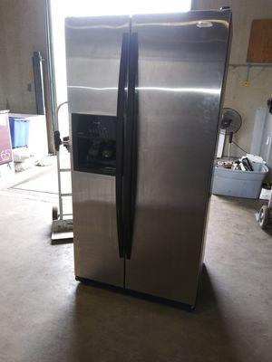 Whirlpool side by side stainless steel refrigerator $450 for Sale in Deltona, FL