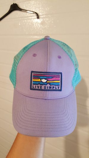 Patagonia Women's 'live Simply' Sunset Pattern Trucker Hat - Purple for Sale in Stanwood, WA
