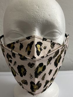 3D Face Mask Adults (Gold Leopard On Pink)-E39 for Sale in San Diego,  CA