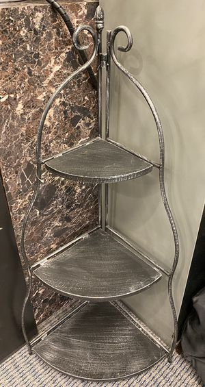 Three Tier Metal Corner Shelf for Sale in Quincy, MA